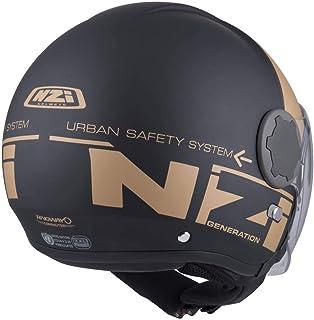 NZI Casque int/égral Indy Noir et Orange Taille M