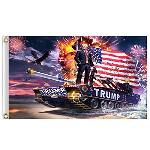 RB Flagge Donald Trump, 90 x 152 cm, 1 Stück Trump 2020 Keep America, mit Messing-Tüllen, Aufkleber für Fan-Flagge