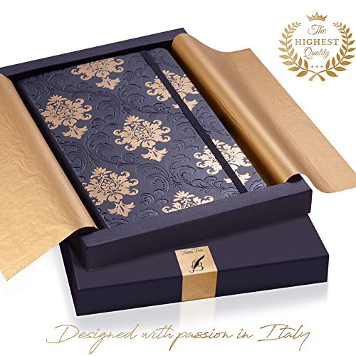 Exclusive Writing Journal for Women - Handmade in Italy with Ivory Paper - Travel Diary Notebook for Daily Notes, Dreams or Planning - Perfect for a Traveler, Writer, Musician or Student - Great GlFT