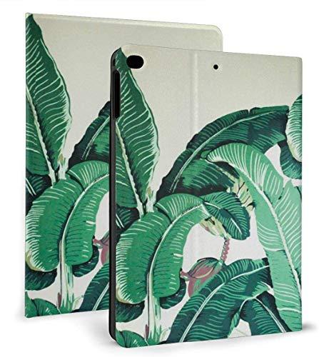 Funda Inteligente de Cuero PU con Estampado Tropical de Hojas de plátano con función de Reposo / activación automática para iPad Mini 4/5 7,9 'y Funda para iPad Air 1/2 9,7'