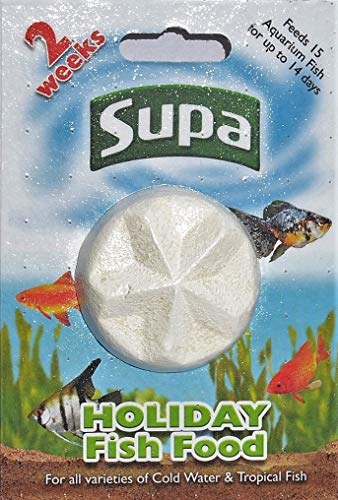 SUPA Aquarium Holiday Fish Food, 14 días, Paquete de 6, fácil de Usar, Bloque de Alimentos de liberación Lenta para Alimentar Agua fría y Peces Tropicales
