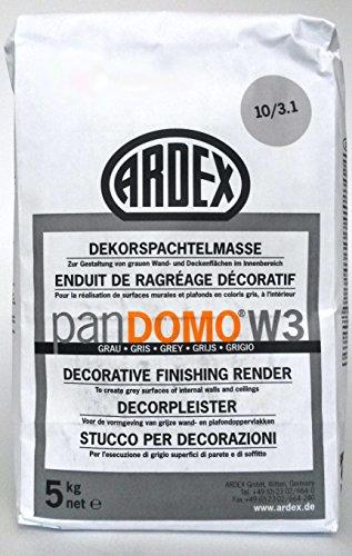 ARDEX ARDEX PANDOMO® W3 Dekorspachtelmasse / grau, 5kg - Zur Gestaltung von Wand- und Deckenflächen im Innenbereich.