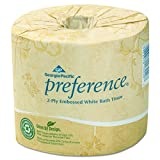 Preference 2-Ply Embossed Toilet Paper by GP PRO (Georgia-Pacific), 18280/01, 550 Sheet Per Roll, 80 Rolls Per Case