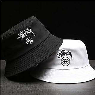 ZHENGDANG Unisex Summer Foldable Letter Embroidery Bucket Hat Women Outdoor Cotton Fishing Cap Men Chapeau Prevent Hat
