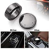 WonVon Cubierta para Perilla Multimedia, para Interior de Coche, Botones Multimedia para BMW F10, F20, F30, para iDrive