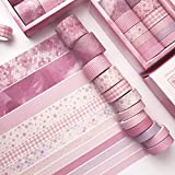 季節や気分に合わせて使えるマスキングテープ セット ピンク デザインマステ 無地マステ かわいい パターン 柄マステ pink