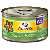 Wellness Complete Health Natural Grain Free Wet Canned Cat Food, Minced Turkey Entree, 3-Ounce Can (Pack of 24)