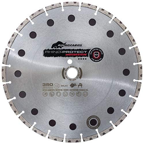 Nozar Trennscheibe / Diamant-Trennscheibe Rhino Protect | High-Speed Segmente für mehr Schneidleistung und Universal-Bindung für harte Materialien, Heat-Control-System | 350 x 20 mm