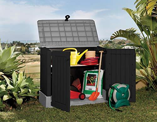 Mülltonnenbox von Keter Store it Out Midi, Schwarz, 845L - 9