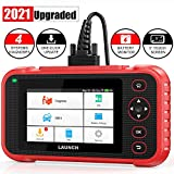 "LAUNCH Scan Tool- CR123i OBD2 Scanner ABS SRS Engine Transmission Code Reader, 5.0"" Touchscreen Android 7.0, Free Wi-Fi Update, Auto VIN & Battery Test Car Diagnostic Scanner for All Cars- 2021 Ver."