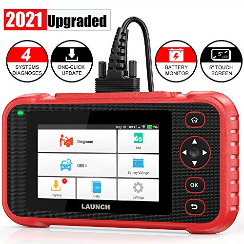 """LAUNCH Scan Tool- CR123i OBD2 Scanner ABS SRS Engine Transmission Code Reader, 5.0"""" Touchscreen Android 7.0, Free Wi-Fi Update, Auto VIN & Battery Test Car Diagnostic Scanner for All Cars- 2021 Ver."""