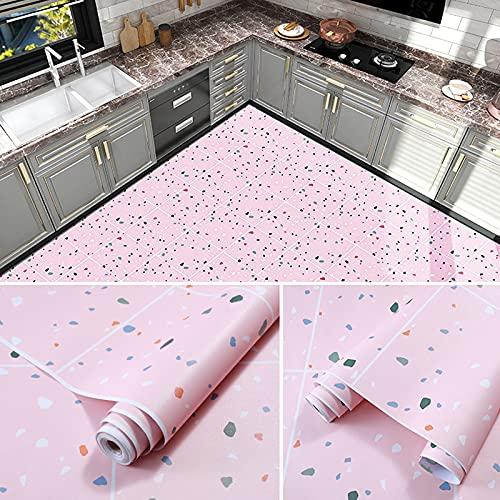 Syina 79 x 63 cm Suelo autoadhesivo, impermeable, rollo de vinilo antideslizante grueso y resistente al desgaste para dormitorio, cocina o cuarto de baño