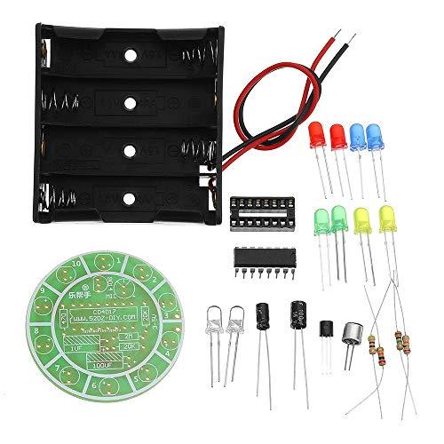 Módulo electrónico 3pcs Flash Kit DIY LED colorido que gira acústica de la lámpara LED Kit Equipo electrónico de alta precisión