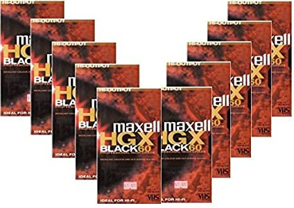 MAXELL VHS PROFESSIONAL HIGH GRADE MIN  120 min LP  VHS TAPE FOR SECUR...