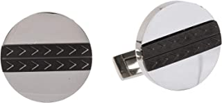 Diamond Moon Stainless Steel Cufflinks for Men, Stainless Steel - 1800541240411