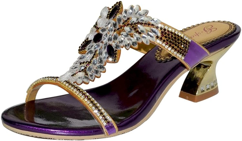 Doris Fashion gs-T012 Women's Glitter Rhinestones Sandals Evening Wedding Heels