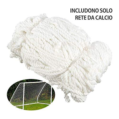 FullLove Rete Calcio Sportiva Durevoli Rete Calcetto Sostitutiva,Porta Sostituzione della Rete Sportiva di Calcio di Multi-Dimensione (3.6m x 1.8m x 0.5m x 1.2m)