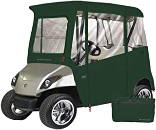 Greenline 2 Passenger Yamaha Drive Golf Cart Enclosure by Eevelle, Heavy Duty Vinyl Backed 300D