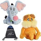 Aurora Dr Seuss 12' Stuffed Animal Duo: Horton and The Lorax, with Cotton Giftbag