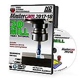 Mastercam 2017-2020 - 2D MILL Beginner 3-Axis Video Tutorial in 720p HD