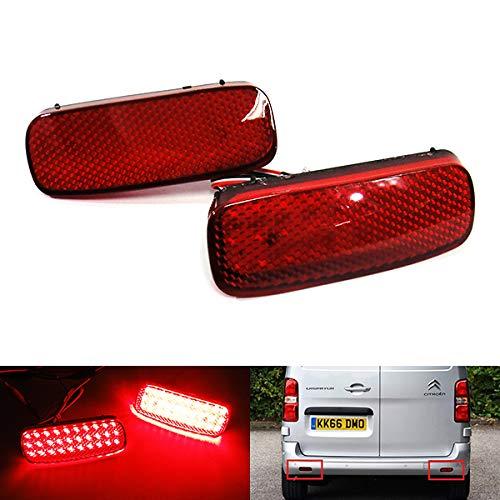 Lot de 2 réflecteurs LED pour pare-chocs arrière - Pour C1 C5 Dispatch Jumpy 107 206 SW 607 Expert Scudo