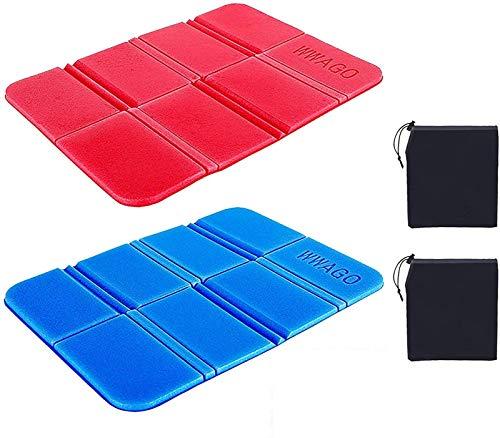 2 unids con aislamiento térmico plegable alfombra para sentarse portátil ultraligero impermeable espuma asiento de espuma acampar asiento de playa para al aire libre camping turismo parque pic