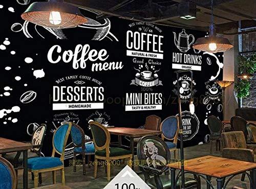 Muursticker Mural Blackboard Krijt Tekenen Koffie Cultuur Catering Poster Cafe Dessert Shop ijs Shop Pizza Shop Bakkerij Restaurant Photo Wallpaper 400cmx280cm(157.4x110.2inch)
