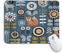 NIESIKKLAマウスパッド 花の森の動物の描画 ゲーミング オフィス最適 高級感 おしゃれ 防水 耐久性が良い 滑り止めゴム底 ゲーミングなど適用 用ノートブックコンピュータマウスマット