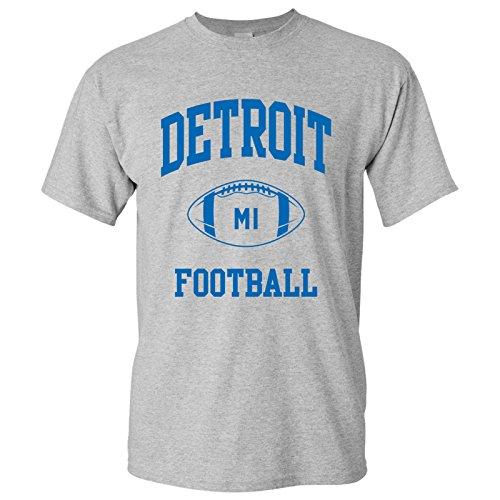 Detroit Classic Football Arch Basic Cotton T-Shirt - Medium - Sport Grey