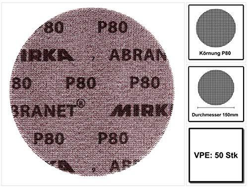 Mirka Abranet Gitternetz-Scheiben GRIP P80 Ø 150 mm (50 Stk.)