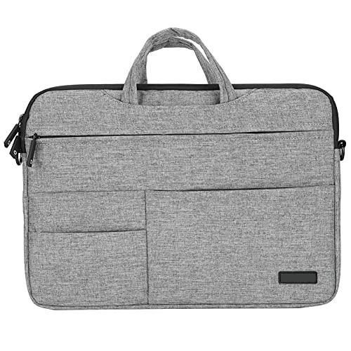 15,4 Zoll Laptop-Umhängetasche, Computer- und Tablet-Umhängetasche, Stoßfest, Leicht, für Huawei, für Lenovo, für ASUS, Geschenke für Männer Frauen(grau)