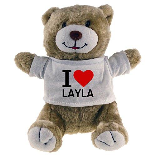 Diseño de oso de peluche Classic I Love Layla Beige
