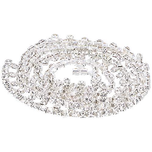 Cadena de garra, cadena de diamantes de imitación, accesorios de ropa de diseño humanizado fuerte para coser decoración del hogar