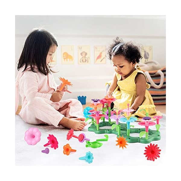 CENOVE Toys for 3 Year Old Girls Flower Garden Building Toys,DIY Bouquet Sets Gifts for 3 4 5 6 Year Old Girls,Creative…
