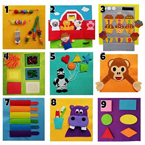 Libro sensorial personalizado con el nombre. Juguete educativo. Montessori. Hecho a mano. Psicomotricidad, creatividad.