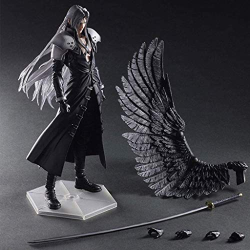 HOOPOO Pop Figur Final Fantasy VII: Advent Children - Sephiroth Atcion Figur Figur Sammlung von PA Kai - Wings und Austauschbare Hände 11inch