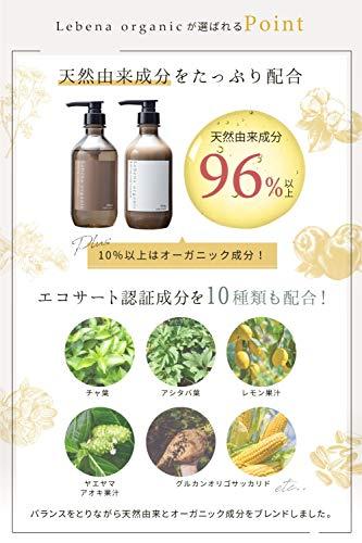 レベナオーガニックシャンプー&トリートメントセットアミノ酸オーガニックノンシリコンボタニカルスカルプ無添加しっとり高保湿セラミド植物幹細胞配合500ml&500g