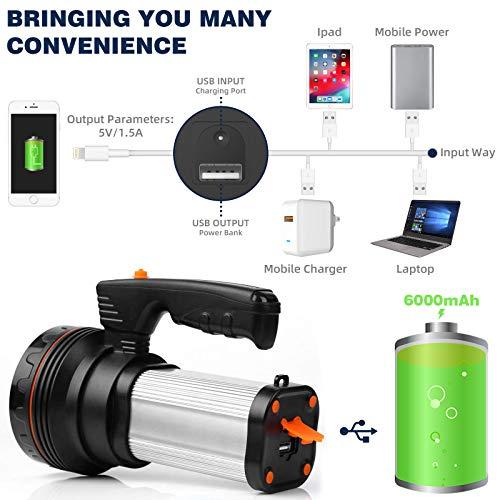 ROMER LED recargable de mano luz de búsqueda de alta potencia Super brillante 9000 MA 6000 LUMENS CREE táctico foco linterna linterna linterna