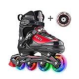 [page_title]-Hiboy verstellbare Inline-Skates mit Allen beleuchteten Rädern, beleuchteten Outdoor- und Indoor-Rollschuhen für Jungen, Mädchen, Anfänger (Medium 35-38, Rot)