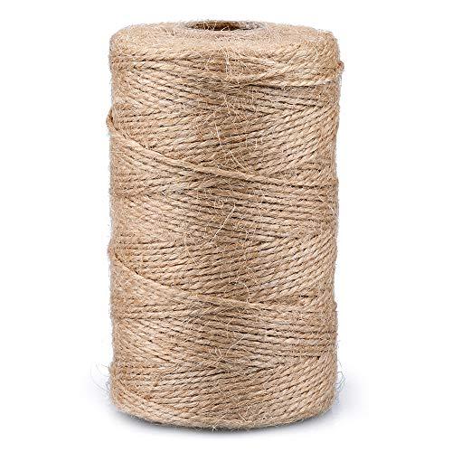 9 plis épais naturel sisal Hesse Burlap ficelle jute rustique chaîne cordon tissu