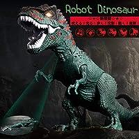 (ダイナレックス) 恐竜 ティラノザウルス ロボ ザウルス 玩具 電動 自動 歩行 発声 発光 ロボット 子供 キッズ 用 おもちゃ 多機能 新機能 (グリーン)