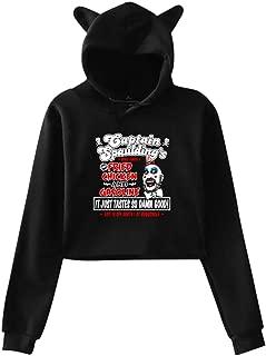 Sexcesal Death is Coming Captain Spauldings Fried Chicken Printed Girls Hipster Cat Ear Hoodie Sweater Sweatshirt Hoodies