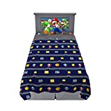 Franco Kids Bedding Soft Sheet Set, 3 Piece Twin Size, Super Mario