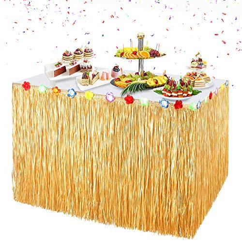 ZOOI Hawaii Deko - Hawaii Party Deko Tischrock Beach Deko, Festival Gadget & Ausrüstung für Hawaii Dekoration Party, Garten Party Deko, Dschungel Deko, Tropicaldeko, Beach Party Dekoration