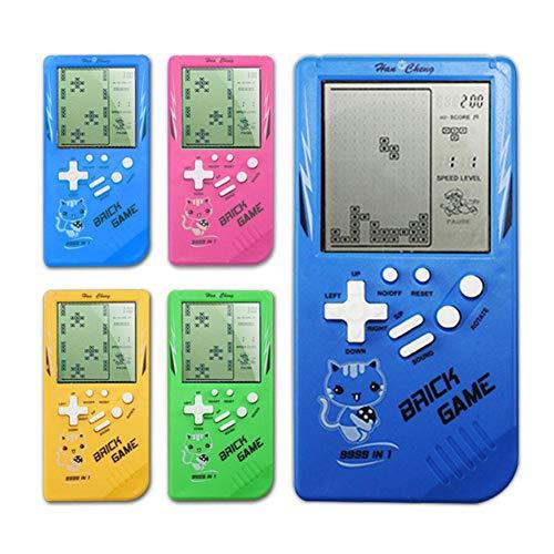 Thrivinger Kinder 3,5-Zoll-Bildschirm-Konsole, Klassische Tetris-Spielekonsole/In 10 verschiedenen Spielen gebaut, blau, grün, gelb, pink.