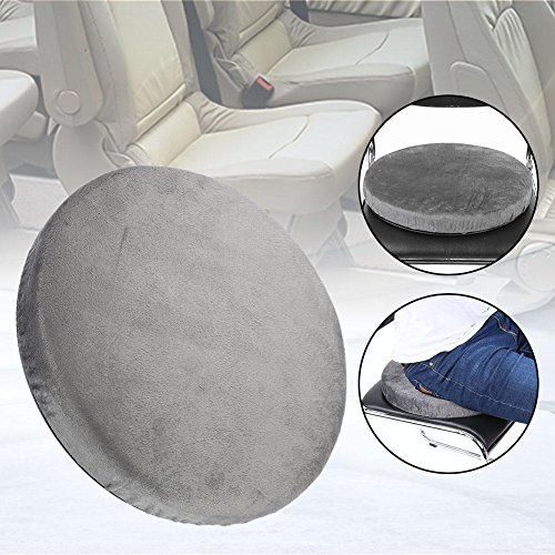 Alucy Rotating Car Swivel Seat, 360 Degree Rotation Converts Any Chair Cushion Detachable Cover Rotatory Chair Pad Comfort Skidproof Office Home Use