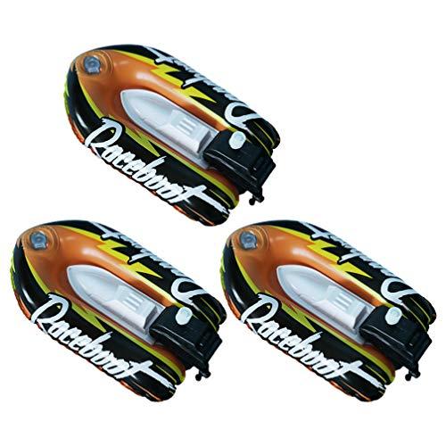 NUOBESTY 3 Piezas de Juguete de Baño de Bebé de Juguete de Cuerda de Barco de Juguete Inflable de Barco de Juguete para Piscina de Playa Y Bañeras