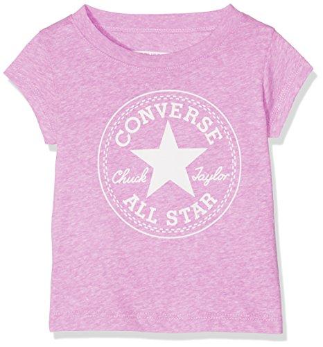 Converse Converse Baby-Mädchen Chuck Patch Tee T-Shirt, Rosa (Fuchsia Glow Snow Heather), 80
