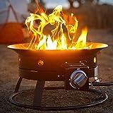 Kinger Home 20' Portable Propane Fire Pit 52,000 BTU, Propane Fire Pit for Camping, Portable Campfire, Smokeless Fire Pit, Mini Fire Pit, Electric Fire Pit