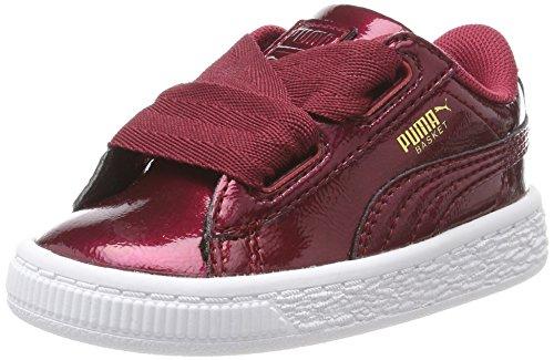 Puma Basket Heart Glam Inf, Zapatillas Unisex Niños, Rojo (Tibetan Red-Tibetan Red), 27 EU